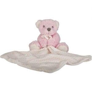 pink teddy bear blankie