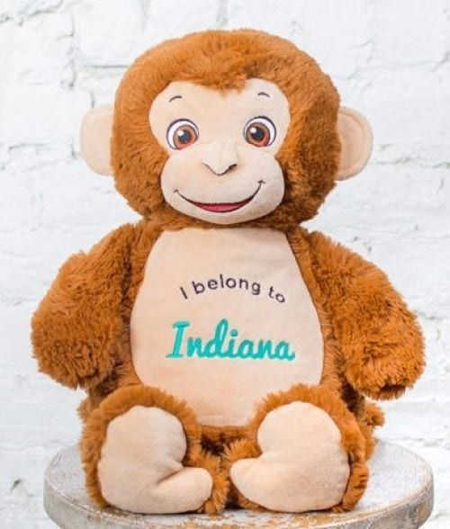 embroidered cubbie monkey