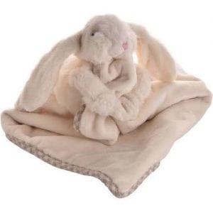 cream bunny comforter