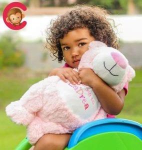 personalised pink bear