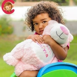 personalised pink bear