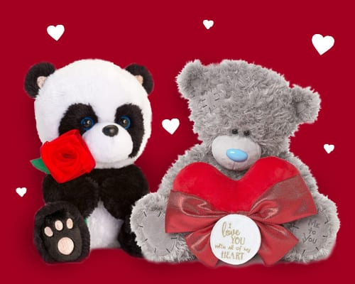 personalised valentines teddy bear