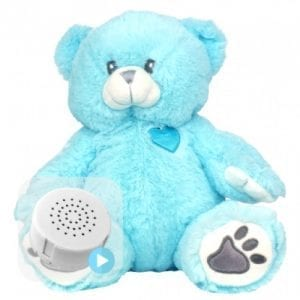 blue heartbeat teddy bear
