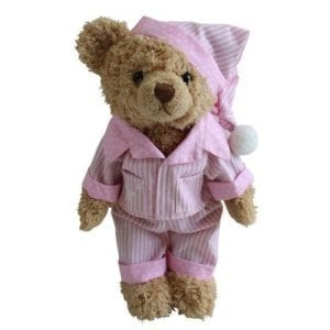 teddy in pink pyjamas