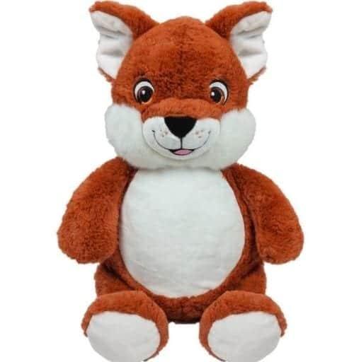 personalised fox cubbie