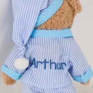 pyjama teddy on back