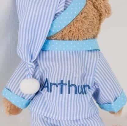 pyjama teddy on back