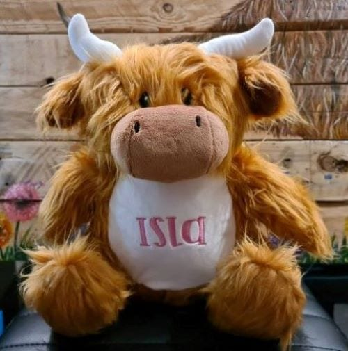 personalised stuffed animals Isla highland cow