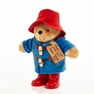 paddington in blue duffle coat