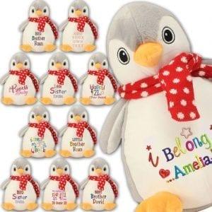 Zippie Penguin Stuffed Animal Toy Teddy Bear