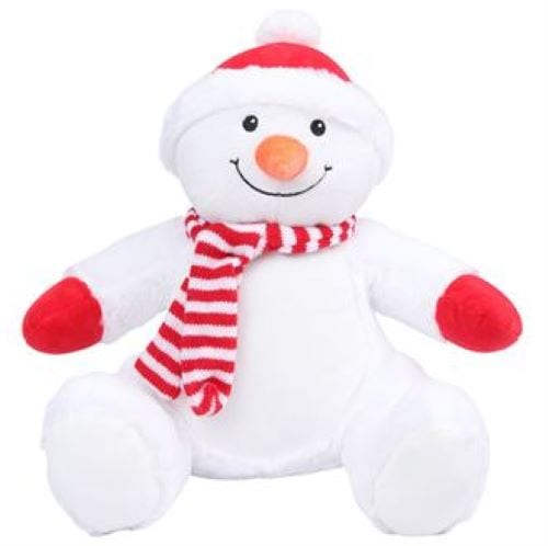 personalised snowman soft toy