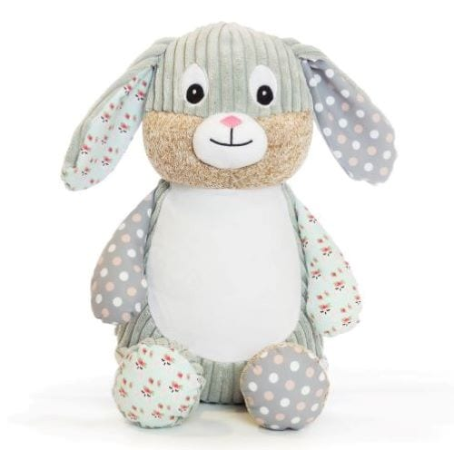 harlequin bunny cubbie teddy
