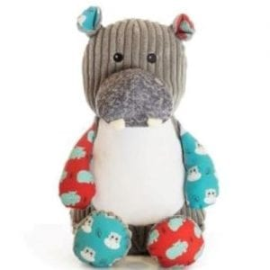 personalised hippo teddy