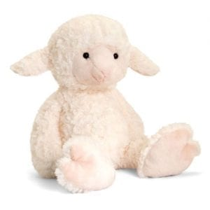 personalised lamb teddy