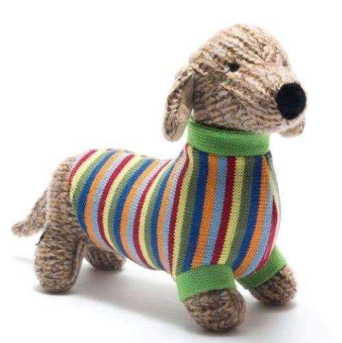 knitted sausage dog teddy