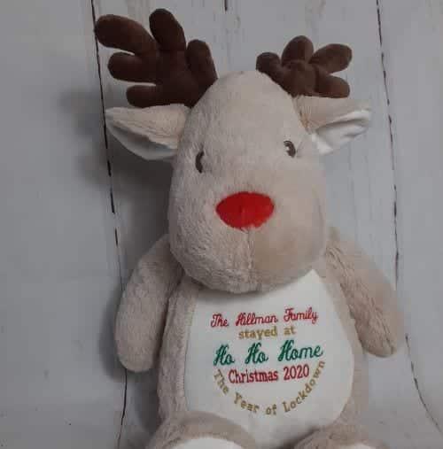 embroidered reindeer teddy