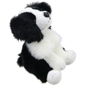 stuffed toy border collie