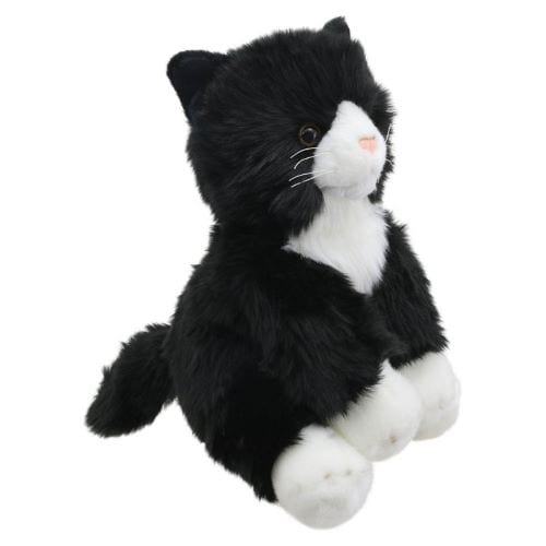 black and white cat teddy
