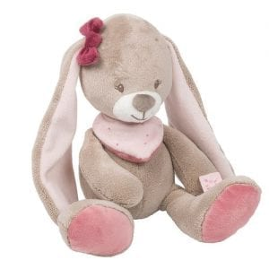 nina personalised bunny soft toy