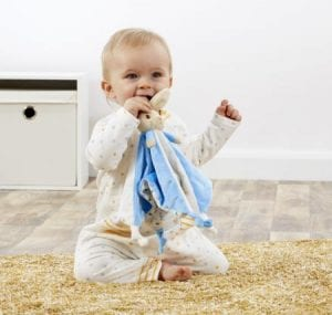 peter rabbit comforter with baby
