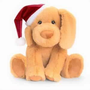 keel puppy with santa hat