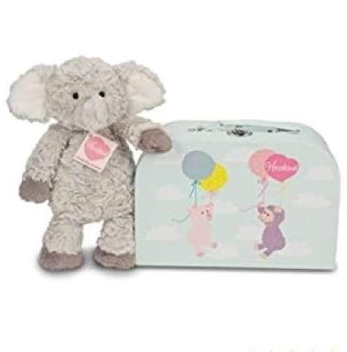 teddy hermann elephant with suitcase