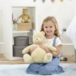 personalised teddy gift winnie the pooh with child