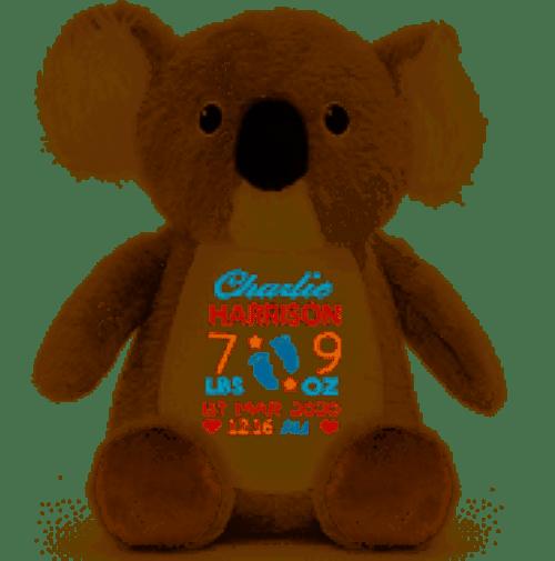 personalised teddy gift Kayla Koala Toy 1