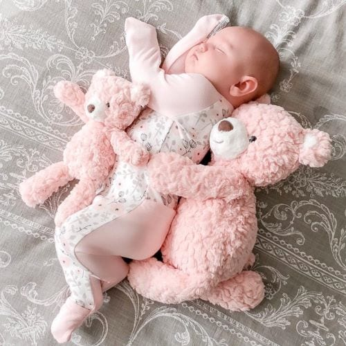 baby with my first teddy