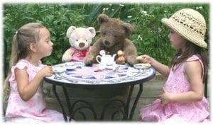 kids teddy bear tea party