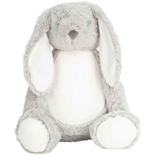 personalised grey bunny