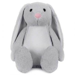 personalised grey bunny teddy