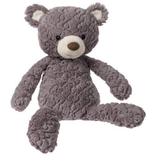 personalised grey putty bear