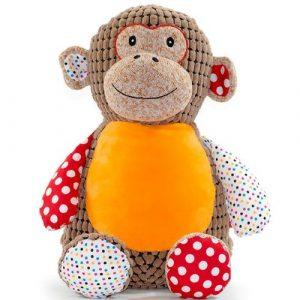 huggles personalised brown monkey